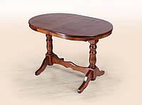 Овальный, раздвижной, деревянный стол - Атаман (цвет -орех)