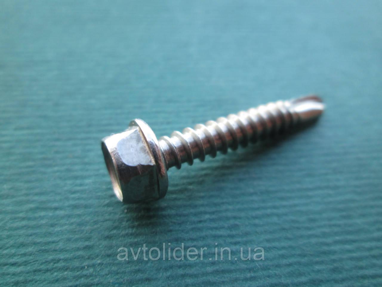 DIN 7504 K (ISO 15480) : нержавеющий саморез по металлу со сверлом, головка шестигранная
