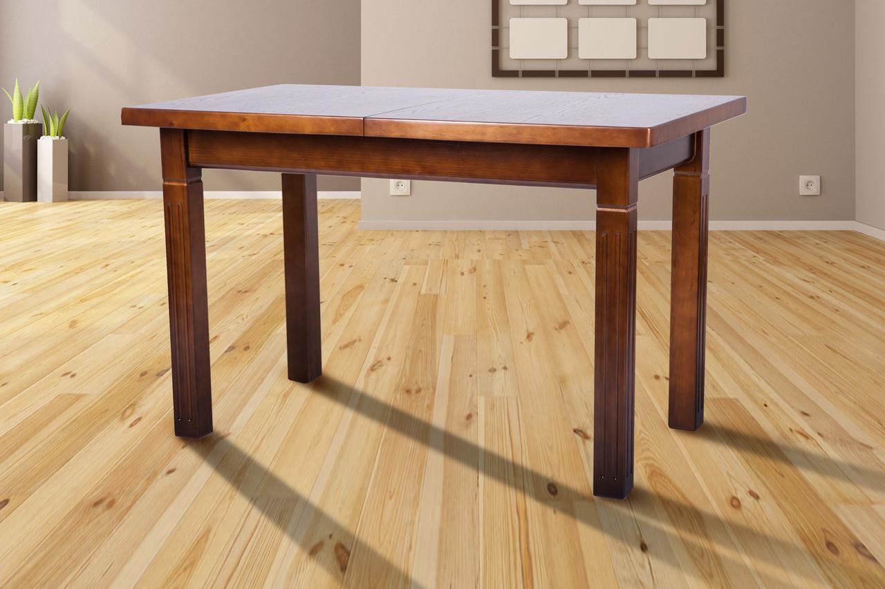 Стол обеденный, из массива сосны, раздвижной -Атлант