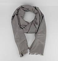 Кашемировый палантин Louis Vuitton 8881-16 серый двусторонний, фото 1