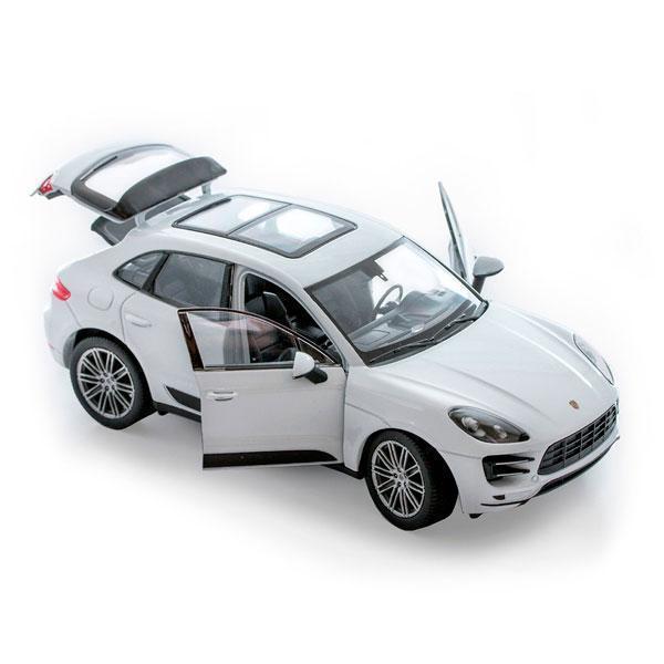 Колекційна машинка Porsche Macan Turbo біла металева модель в масштабі 1:32