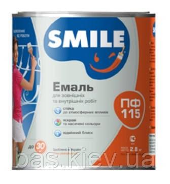 Эмаль Smile ПФ-115 Белая (2,8 КГ)