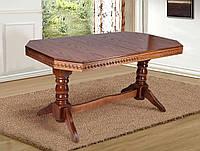 Стол обеденный, раздвижной из массива дерева - Буковель (цвет - орех)