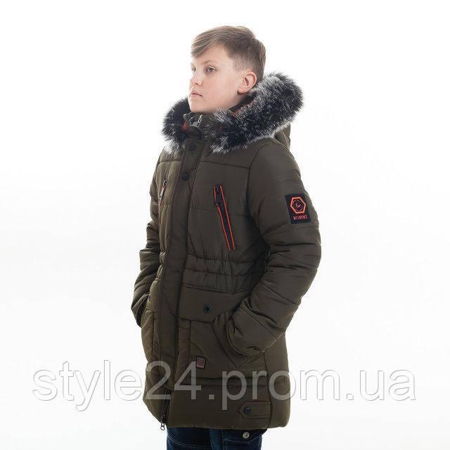 Зимова куртка на хлопчика на флісі .Р-ри 122-152  продажа 65c7e13b822bd
