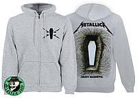 Толстовка на змейке METALLICA Death Magnetic серая