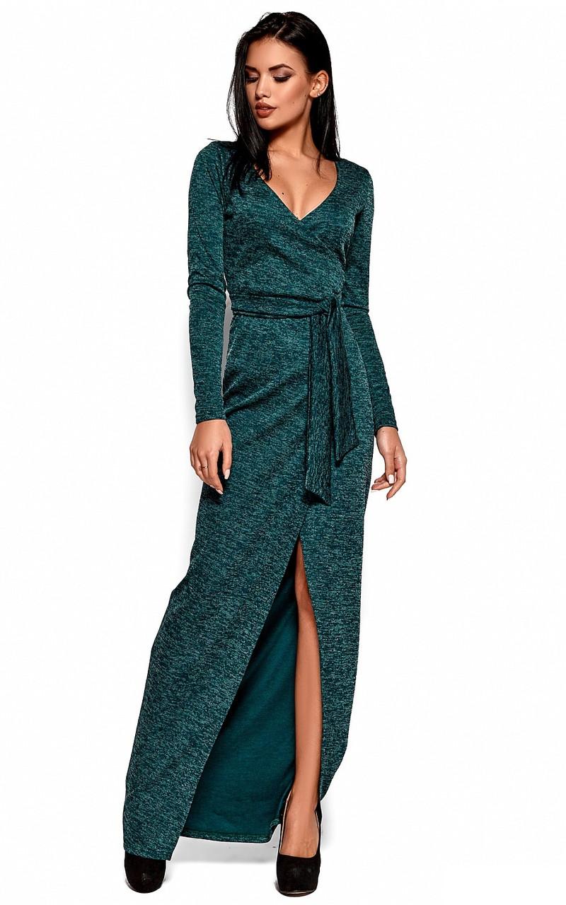 (S / 42-44) Вишукане зелене вечірнє плаття Karla