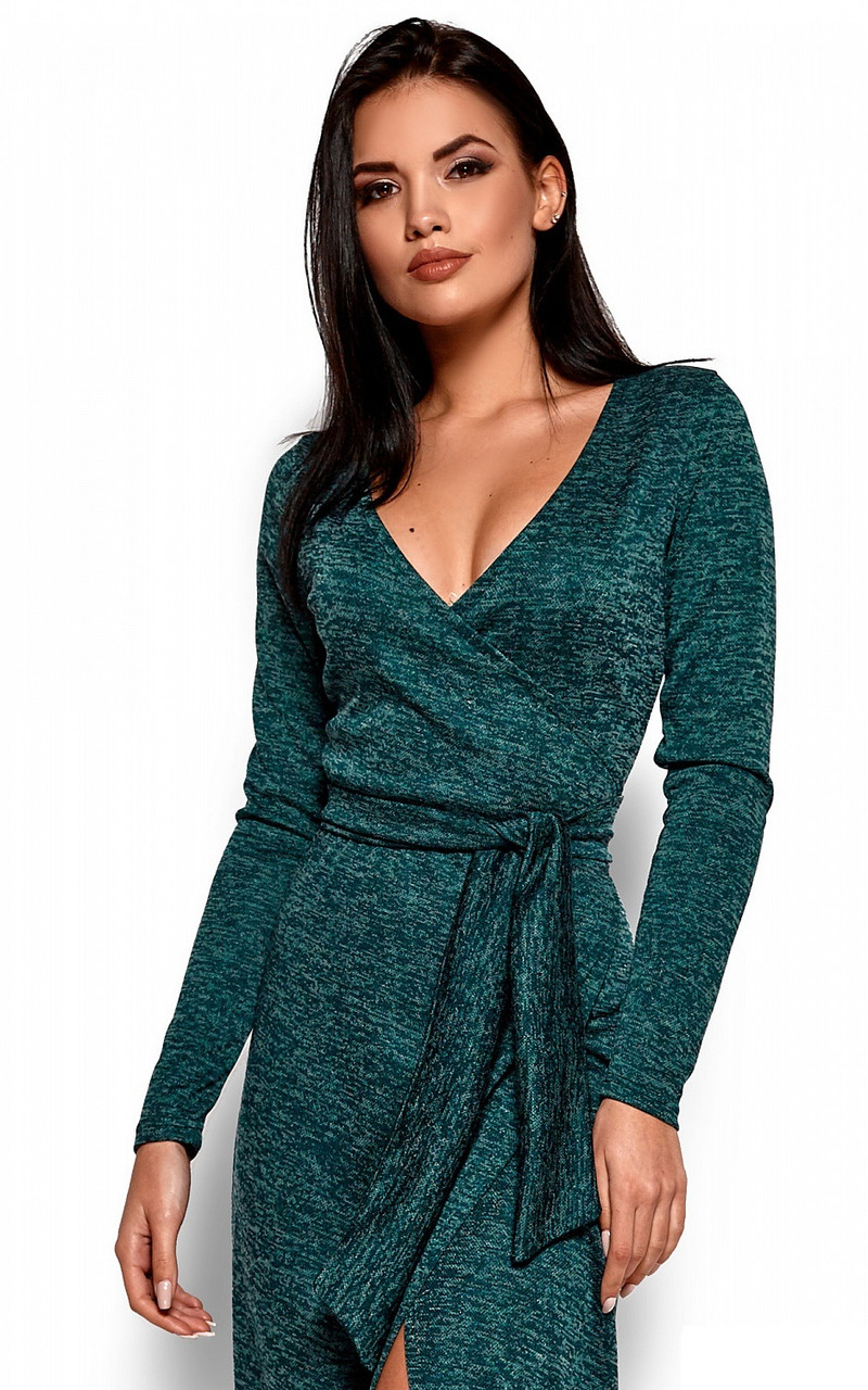 S | Вишукане зелене вечірнє плаття Karla