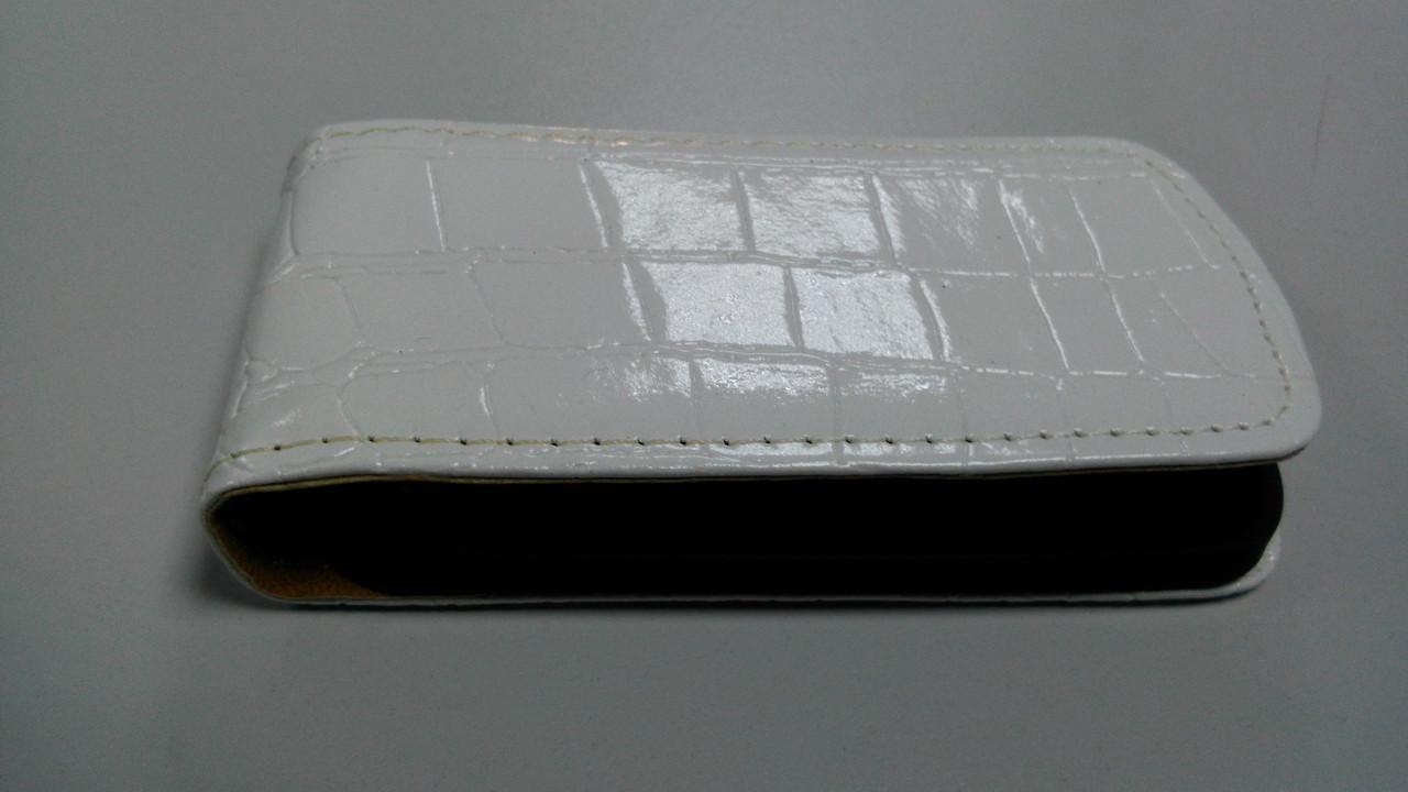 Чехол-флип для Huawei Ascend Y300 крокодилловый белый