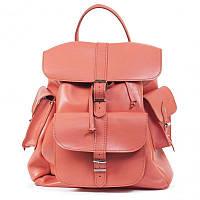 "Рюкзак GRACE 14"" кожаный 31х35х14 см Коралловый (R14.000000349)"