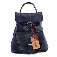 """Рюкзак GRACE 11"""" кожаный 26х28х15 см Черный (R11.000000323)"""