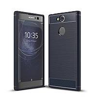 Чехол Carbon для Sony Xperia XA2 / H4113 / H4133 / H3113 / H3123 / H3133 бампер Синий, фото 1