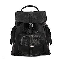 """Рюкзак GRACE 14"""" кожаный 31х35х14 см Черный (R14.000000323)"""
