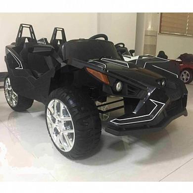 Двомісний дитячий електромобіль 4 мотора, Шкіряне сидіння, EVA Гума, дитячий електромобіль