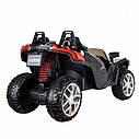 Двомісний дитячий електромобіль 4 мотора, Шкіряне сидіння, EVA Гума, дитячий електромобіль, фото 5