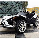 Двомісний дитячий електромобіль 4 мотора, Шкіряне сидіння, EVA Гума, дитячий електромобіль, фото 3