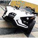 Двомісний дитячий електромобіль 4 мотора, Шкіряне сидіння, EVA Гума, дитячий електромобіль, фото 7