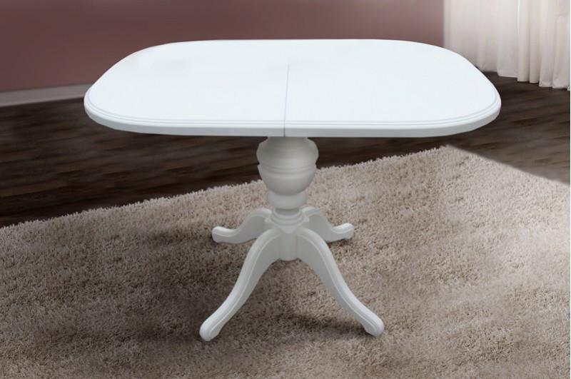 Стол обеденный, раздвижной- Триумф (белый, ваниль)