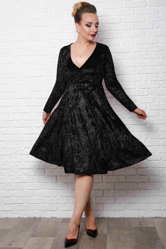 Чорне плаття Даниеэлла великого розміру