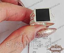 Перстень мужской серебряный с ониксом 0521.10