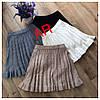Вязаная плиссированная юбка женская 42/46 р, фото 3