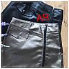 Стильная мини-юбка на молнии из экокожи 42-46 р, фото 4