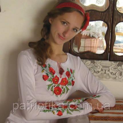 Женская вышиванка Мак классический | Жіноча вишиванка Мак класичний, фото 2