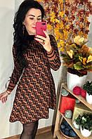 Расклешенное платье с  принтом FF, фото 1
