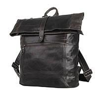 Рюкзак кожаный TIDING BAG 7204J Коричневый