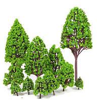 Деревья набор 9 шт, размер 2,5-9 см, для диорам, подставок, миниатюр, детского творчества