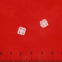 Кнопка пластмассовая прозрачная №0,8, №1,0 см (51516.001)