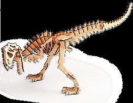 Аллозавр 3D конструктор деревянный эко пазл-раскраска Гарантия качества Быстрая доставка