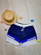 Шорты пляжные мужские сине-белые -158-04, фото 2