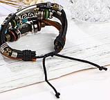 Кожаный браслет амулет PANK EYE, фото 4