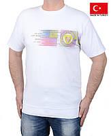 Белая мужская футболка 56-58 размера.
