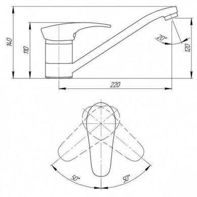 Смеситель для кухни Q-tap BLA 002, фото 2