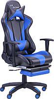 Геймерское кресло VR Racer Magnus сине-чёрное, фото 1