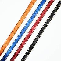 Лента атласная с люрексом, 3 мм, 5 мм