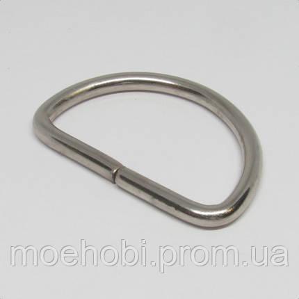 Полукольцо  для сумки (40мм) никель 4209, фото 2