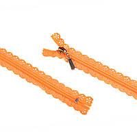 Молния ажурная спиральная М-20 Тип-7 оранжевая (52711.001-)