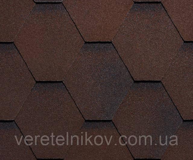 Битумная черепица RUFLEX Mint Sota (коричневая)