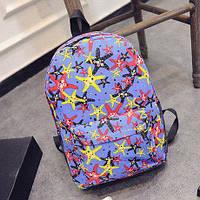 Рюкзак молодежный яркие звезды Голубой, фото 1