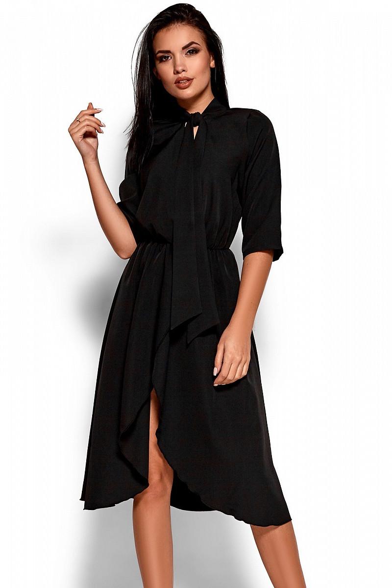(S, M, L) Витончене вечірнє чорне плаття Marta