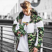 Зимняя Куртка Bape x Adidas (теплая до -20) Реплика