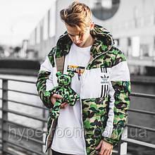 Зимняя Куртка Bape x Adidas Реплика