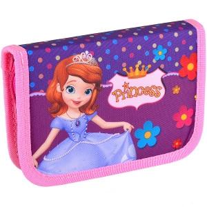 Пенал «LEADER» 1 отд. /2 бок. клапана «Принцесса» 930421
