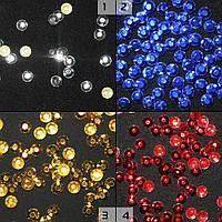 Термостразы металл круглые граненые 4 цвета (54923.001-)