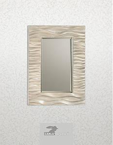 Зеркало прямоугольное в серебристой раме Carlo de santi SF05074