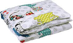 Одеяло детское зимнее в кроватку 105х140 Cat сатин