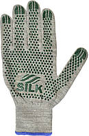 Трикотажні рукавиці з ПВХ Silk 136102