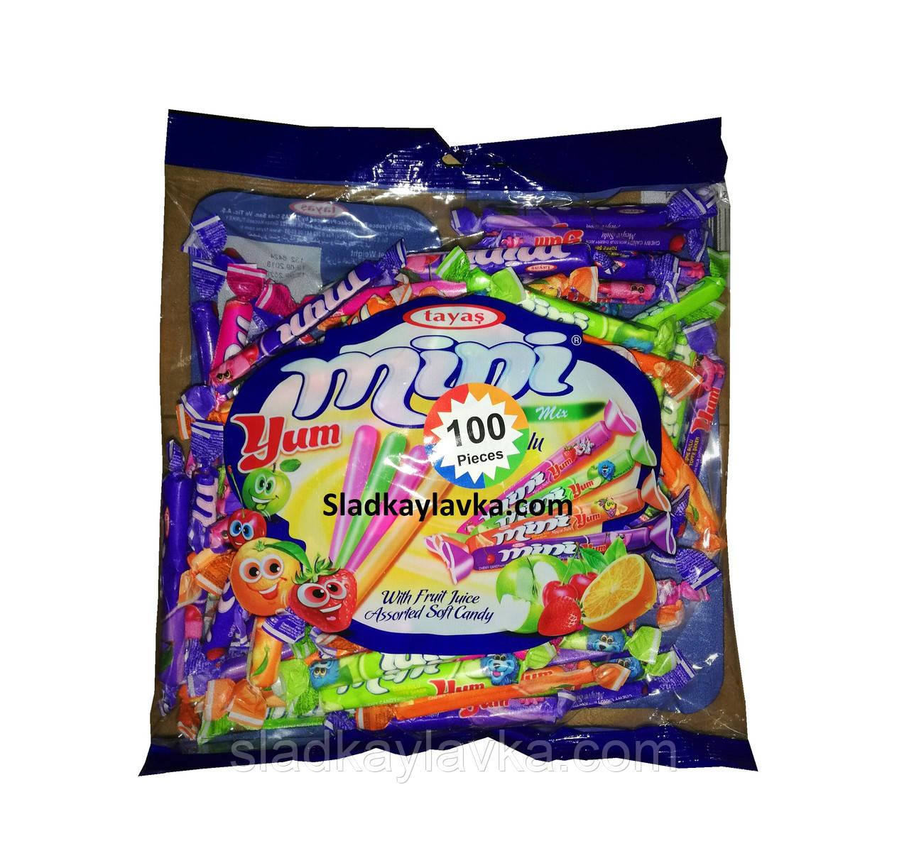 Жевательная конфета Mini Yum пакет 100 шт (Tayas)